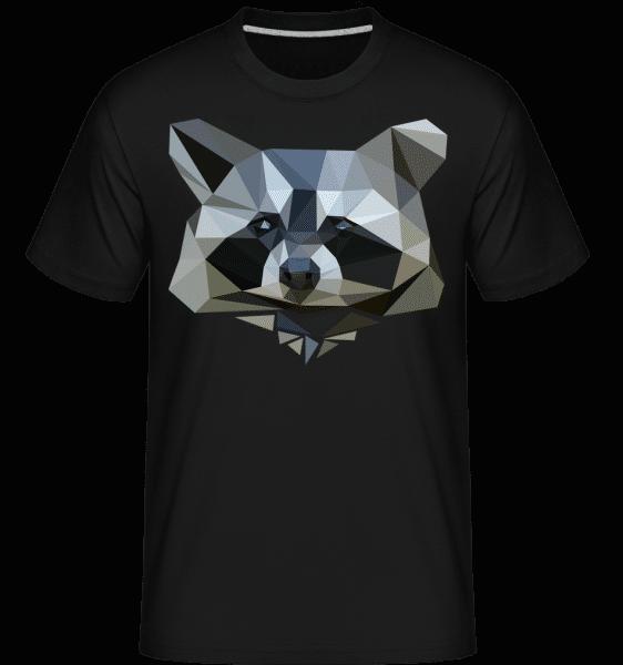 Polygon Racoon -  Shirtinator Men's T-Shirt - Black - Vorn