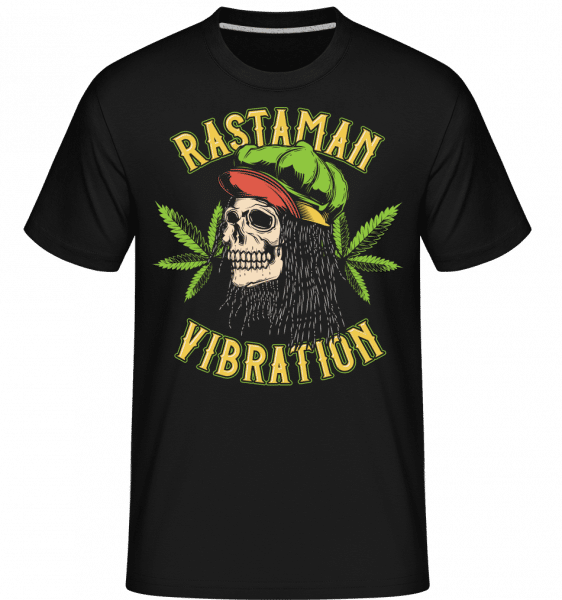 Rastaman Vibration -  Shirtinator Men's T-Shirt - Black - Front