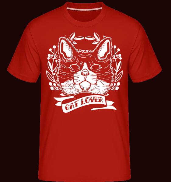 Cat Lover -  Shirtinator Men's T-Shirt - Red - Front