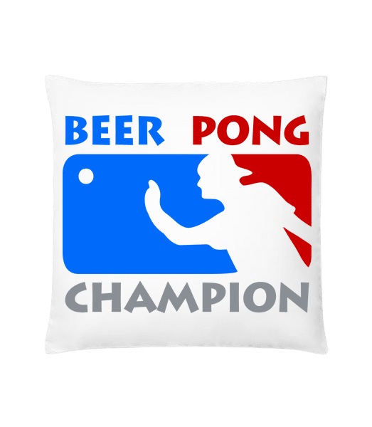Beer Pong Champion - Cushion - White - Vorn