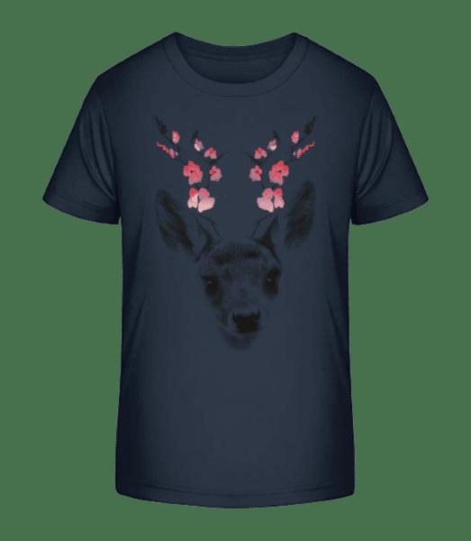Spring Deer - Kid's Premium Bio T-Shirt - Navy - Vorn