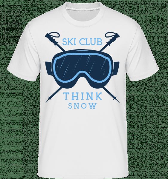 Ski Club Think Snow Icon -  Shirtinator Men's T-Shirt - White - Vorn