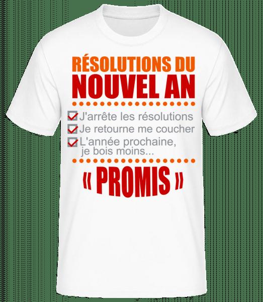 Résolutions Du Nouvel An - T-shirt standard Homme - Blanc - Devant