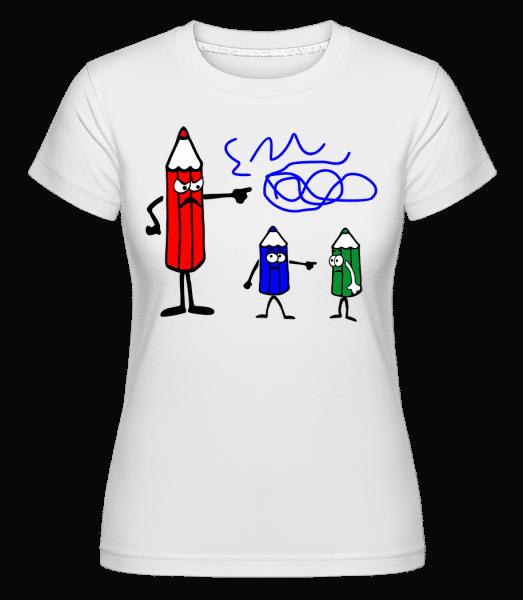 It's The Blue Ones Fault -  Shirtinator Women's T-Shirt - White - Vorn