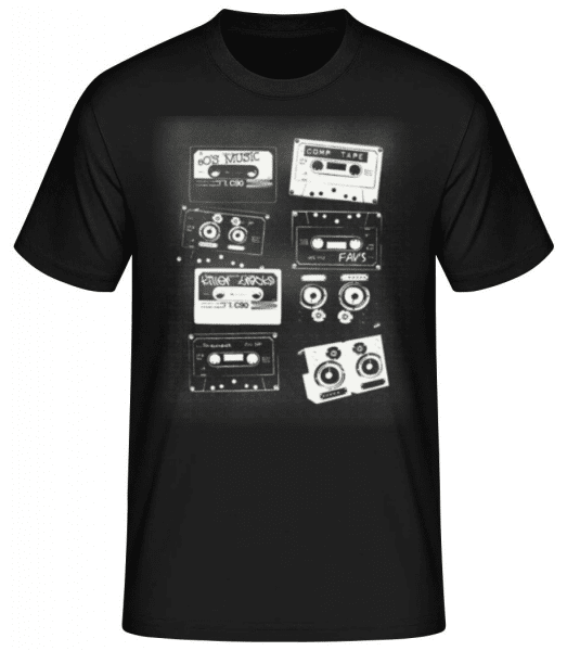 Old Cassettes - Men's Basic T-Shirt - Black - Front