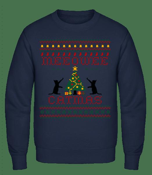 MEEOWEE Catmas - Men's Sweatshirt - Navy - Vorn