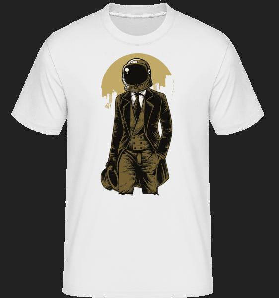 Classic Astronaut - Shirtinator Männer T-Shirt - Weiß - Vorn