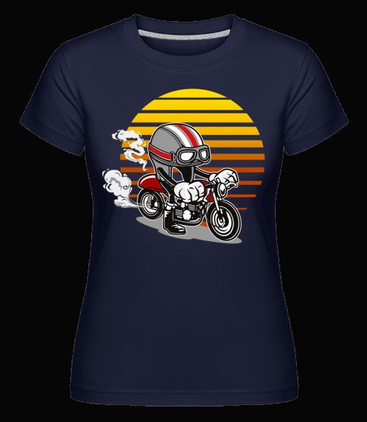 Caferacer Helmet -  Shirtinator Women's T-Shirt - Navy - Vorn
