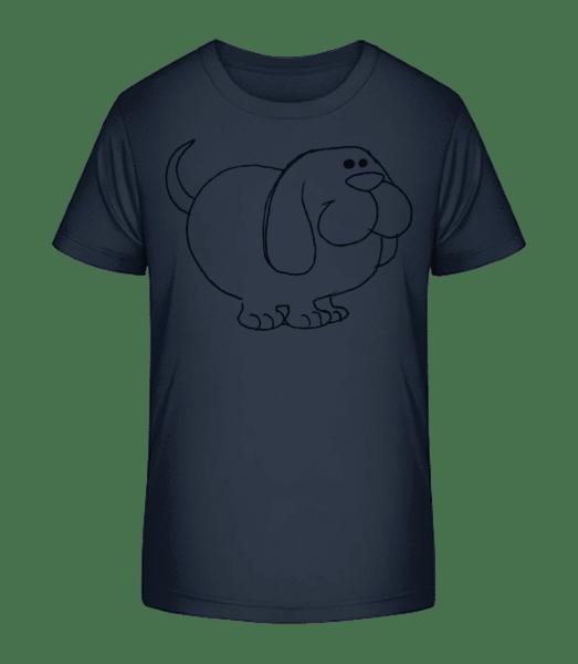 Kids Comic - Dog - Kid's Premium Bio T-Shirt - Navy - Vorn