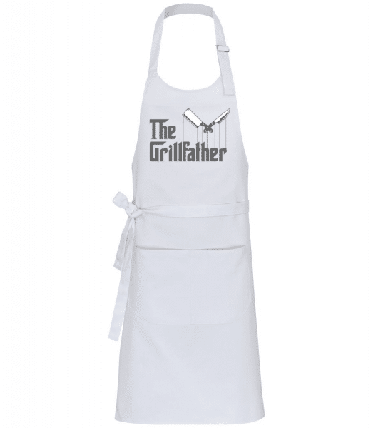 The Grillfather - Professional Apron - White - Front