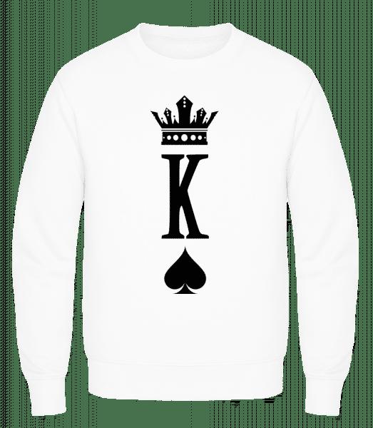 Poker King - Men's Sweatshirt AWDis - White - Vorn