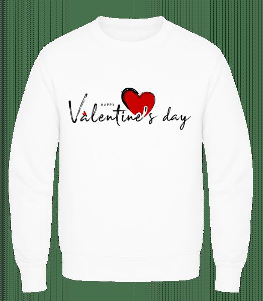 Valentines Day - Men's Sweatshirt AWDis - White - Vorn