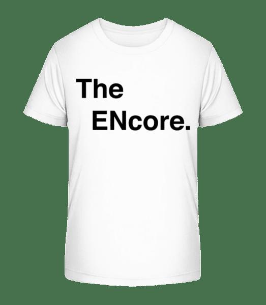 The Encore - Kid's Premium Bio T-Shirt - White - Vorn