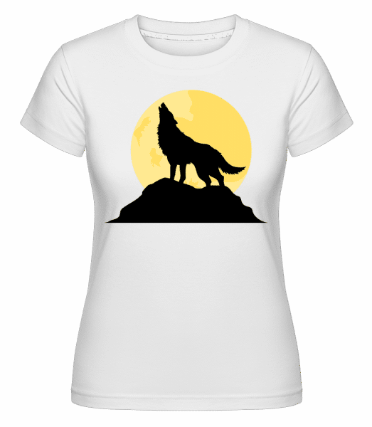Gothic Wolf Sunset -  Shirtinator Women's T-Shirt - White - Vorn
