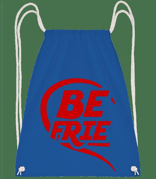 Best Friends - Drawstring Backpack - Royal Blue - Vorn