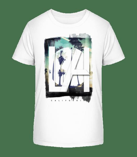 LA - Kinder Premium Bio T-Shirt - Weiß - Vorn