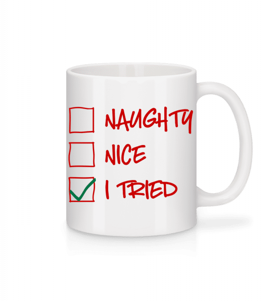 Naughty Nice I Tried - Mug - White - Vorn