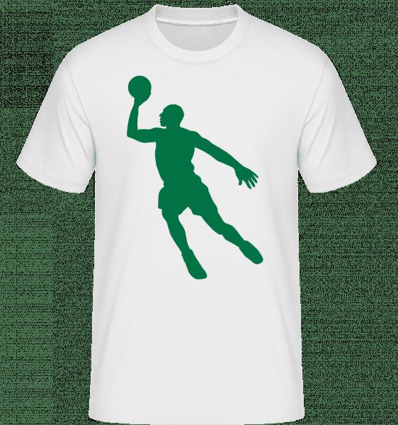 Joueur De Basketball -  T-Shirt Shirtinator homme - Blanc - Devant