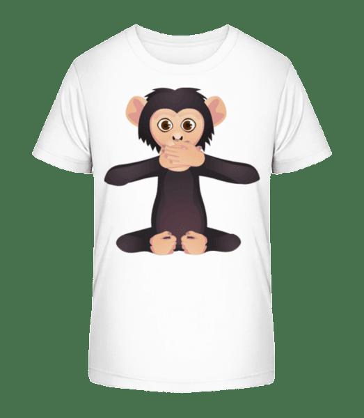 Mute Monkey - Kid's Premium Bio T-Shirt - White - Vorn