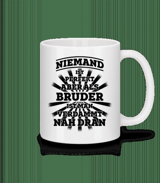 Perfekter Bruder - Tasse - Weiß - Vorn