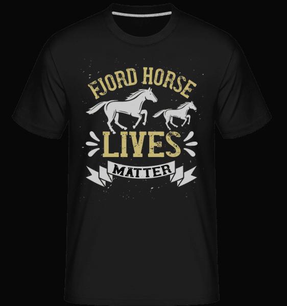 Fjord Horse Lives Matter -  Shirtinator Men's T-Shirt - Black - Vorn