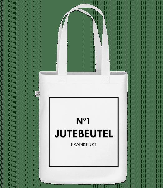 N1 Jutebeutel Frankfurt - Bio Tasche - Weiß - Vorn