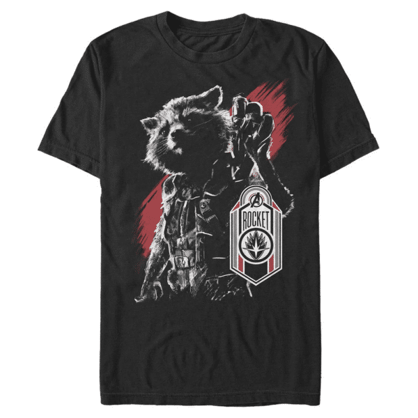 Rocket Tag - Marvel Avengers Endgame - Men's T-Shirt - Black - Front