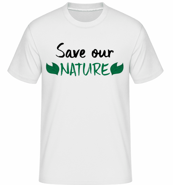 Save Our Nature -  T-Shirt Shirtinator homme - Blanc - Vorn