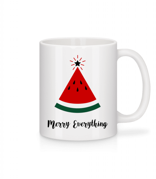 Merry Everything Christmas - Mug - White - Vorn