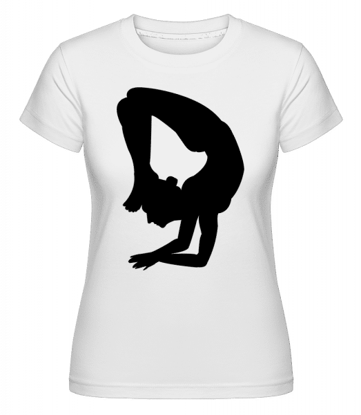 Yoga Figure Black -  Shirtinator Women's T-Shirt - White - Vorn