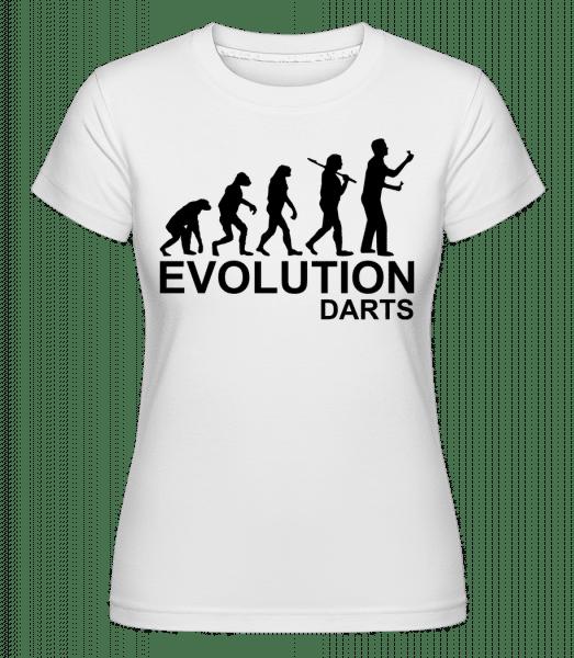 Darts Of Evolution -  Shirtinator Women's T-Shirt - White - Vorn