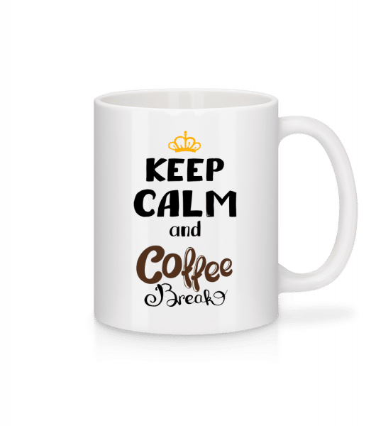 Keep Calm And Coffee Break - Mug - White - Front