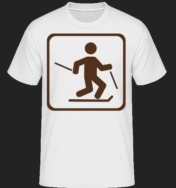 Ski Run Sign -  Shirtinator Men's T-Shirt - White - Vorn