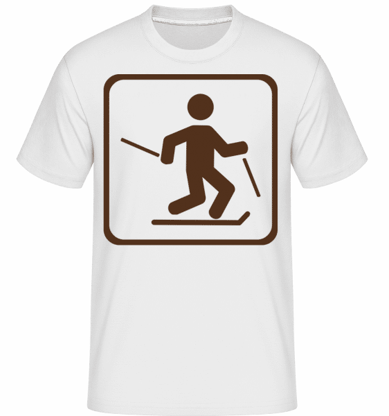 Piste De Ski Marque -  T-Shirt Shirtinator homme - Blanc - Vorn