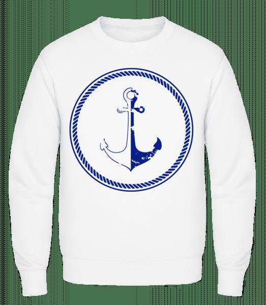 Anchor Symbol - Classic Set-In Sweatshirt - White - Vorn