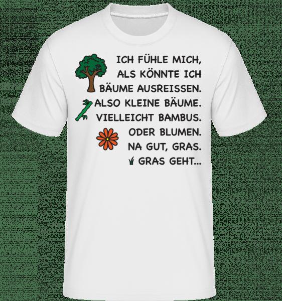 Bäume Ausreissen Lustig - Shirtinator Männer T-Shirt - Weiß - Vorn