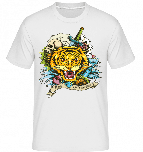 Tiger Tattoo Flash -  Shirtinator Men's T-Shirt - White - Vorn