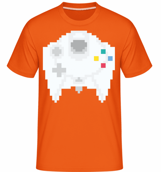 Consoles Controller Oldschool -  Shirtinator Men's T-Shirt - Orange - Vorn