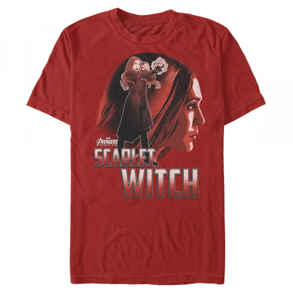Scarlet Witch Sil - Marvel Avengers Infinity War - Men's T-Shirt - Red - Front