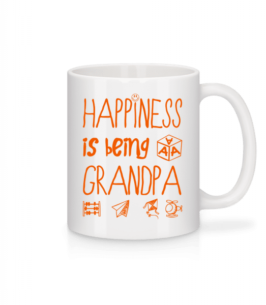 Happiness Is Beeing Grandpa - Mug - White - Vorn