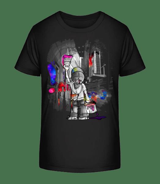 Cool Painter Boy - Kid's Premium Bio T-Shirt - Black - Vorn