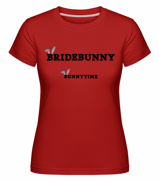 Bridebunny Bunnytime -  Shirtinator Women's T-Shirt - Red - Vorn