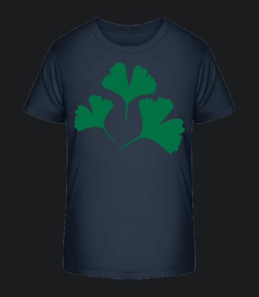 Plant Symbol - Kid's Premium Bio T-Shirt - Navy - Front