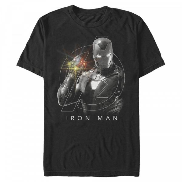 Only One Iron Man - Marvel Avengers Endgame - Men's T-Shirt - Black - Front