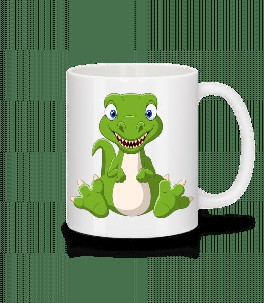 Frecher Kleiner Dinosaurier - Tasse - Weiß - Vorn