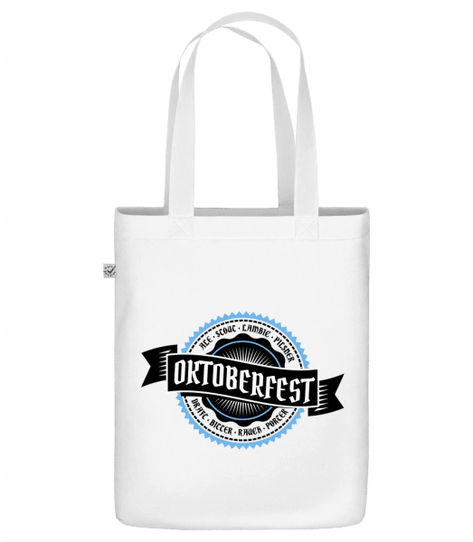 "Oktoberfest Draft Bitter - Organic ""Earth Positive"" tote bag - White - Front"