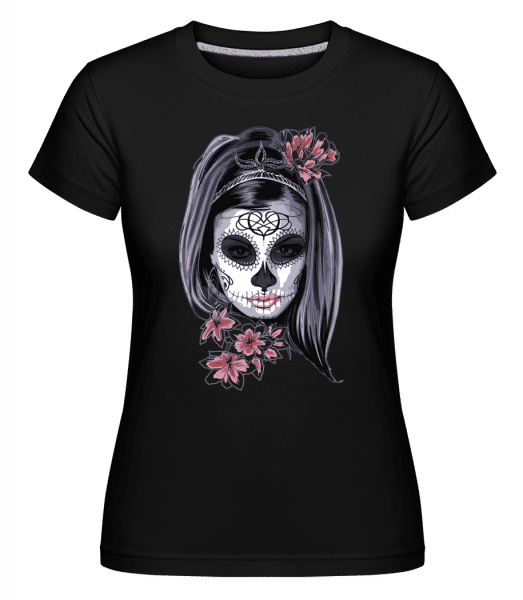Scary Girl Mask -  Shirtinator Women's T-Shirt - Black - Vorn