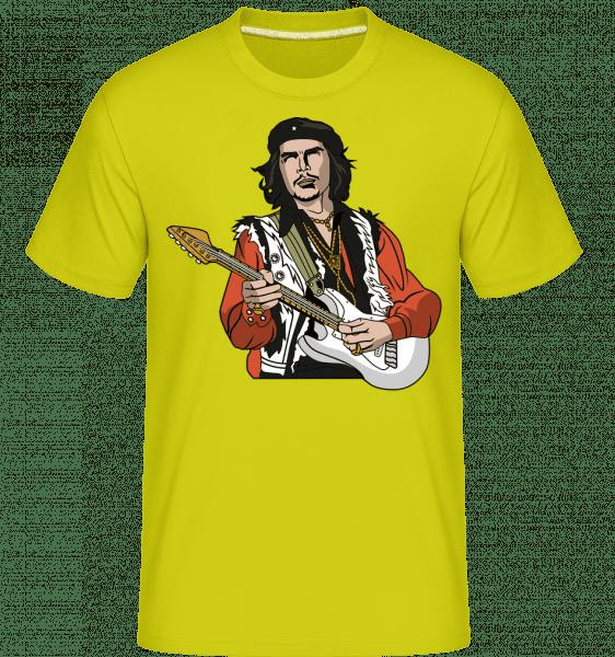 Che Guevara Hendrix -  Shirtinator Men's T-Shirt - Lime - Vorn