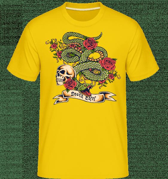 First Sin - Shirtinator Männer T-Shirt - Goldgelb - Vorn