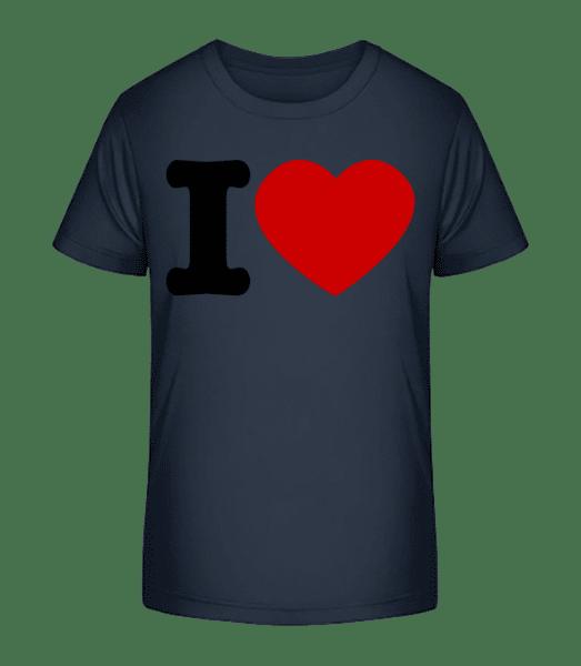 I Love Hearth - Kid's Premium Bio T-Shirt - Navy - Vorn
